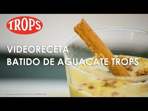 Videoreceta Batido de Aguacate TROPS