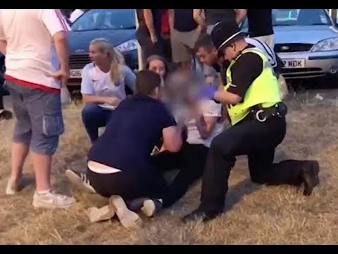 England Fans Fight Each Other Outside Pub After World Cup Defeat