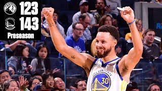Steph Curry ignites for 40 points in the Warriors' preseason win | 2019 NBA Highlights