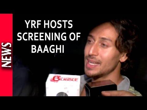 Latest Bollywood News - Baaghi Special Screening At YRF  - Bollywood Gossip 2016