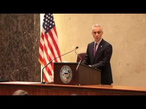 Mayor Rahm Emanuel speech to City Council on Dec. 9, 2015