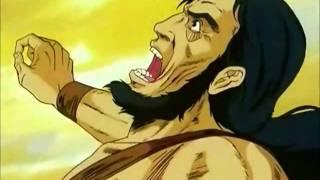 Kenshiro makes two rival gang leaders hug to death