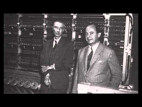 Oppenheimer and von Neumann with Neumann's baby, the EDVAC computer. An instrumental jam.