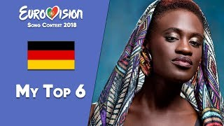 Eurovision 2018 Germany - My Top 6 Artists「EuroCore」