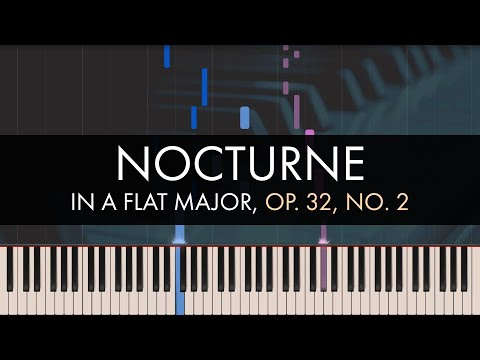 Frédéric Chopin - Nocturne In A Flat Major, Op. 32, No. 2 (Synthesia)
