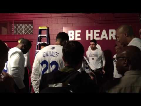 Golden State Warriors (3-0) tunnel run vs Cavs 2017 NBA Finals Game 4
