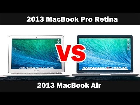 "2013 MacBook Pro 13"" Vs 2013 MacBook Air 13"""