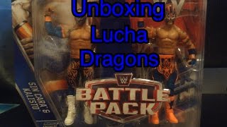 WWE action figure unboxing - Sin Cara and Kalisto - WWE Battle Pack series 42 wrestling figure