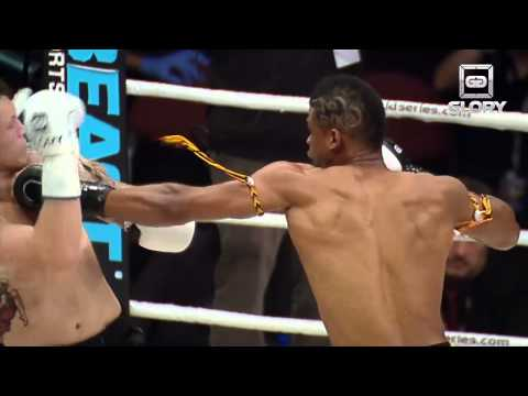GLORY: Precision Left Hook KO (Andy Ristie)