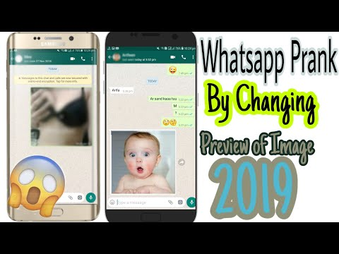 How To Prank Someone on Whatsapp By Changing Preview of Image | Image Preview Changer App Review