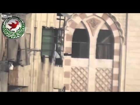 Syrian News-LiveLeak com   A Syrian Sunni Arab sharpshooter targets an assadist gunman in a Mosque