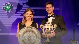 Novak Djokovic and Simona Halep discuss Wimbledon 2019 triumphs at Champions' Dinner