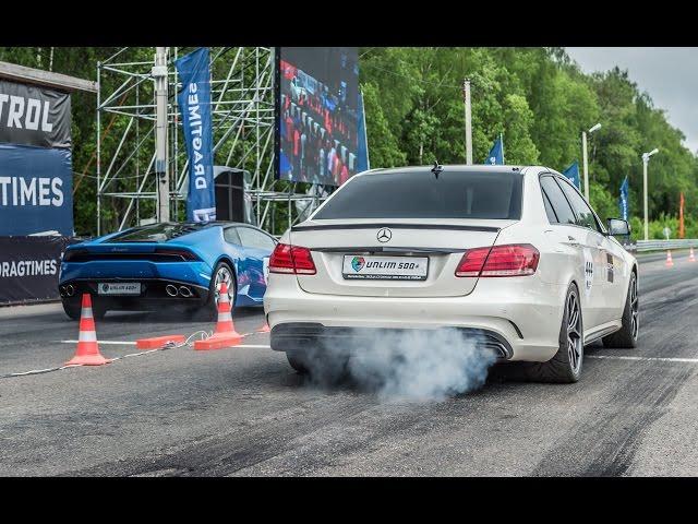Mercedes E63 AMG vs Lamborghini Huracan vs BMW M6 - YouTube