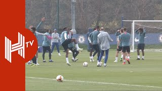 Chelsea train ahead of Slavia Prague clash