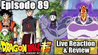 DRAGON BALL SUPER EPISODE 89 - *LIVE REACTION & REVIEW* MASTER ROSHI & TIEN!