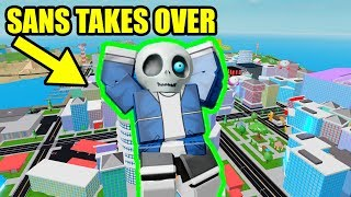 SANS TAKES OVER MAD CITY Roblox