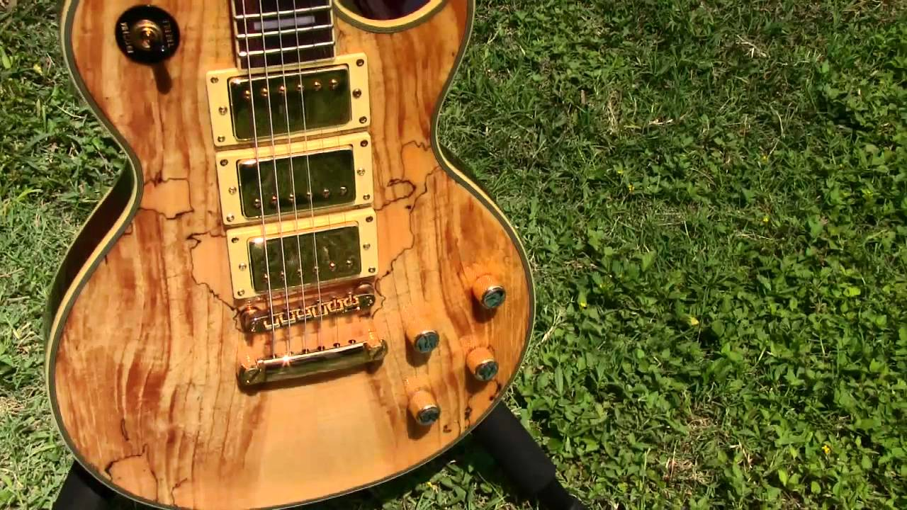 Spalted Maple Wood Guitar Guitar Spalted Maple pm