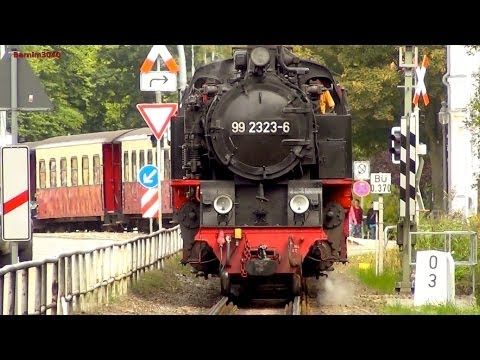 Dampfzüge in Bad Doberan - 99 2322 & 99 2323 - Bäderbahn Molli - steam trains - Narrow Gauge