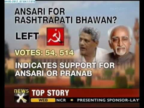 Presidential elections: Hamid Ansari tops list of presidential hopefuls - NewsX
