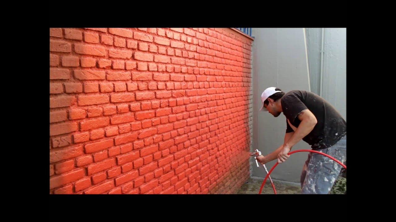 Pintura parede de tijolinhos youtube - Pintura lavable para paredes ...