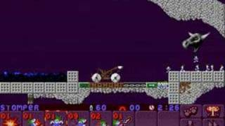 Lemmings 2 (PC) medieval lvl 3 (3+ solutions)