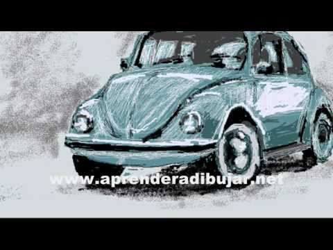 Dibujos de autos - Volkswagen escarabajo o Beetle - YouTube