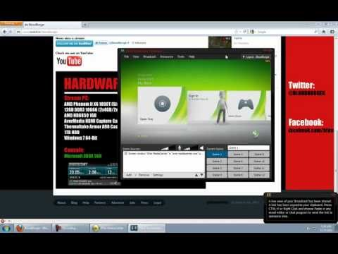 How To Stream Console (XBOX/PS3/Wii) Games With XSplit (AverMedia HDMI)