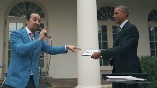 Miranda FreeStyling at the White House