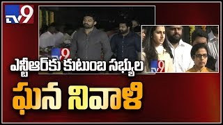 Jr NTR and Kalyan Ram pay tribute to Sr.NTR at NTR Ghat