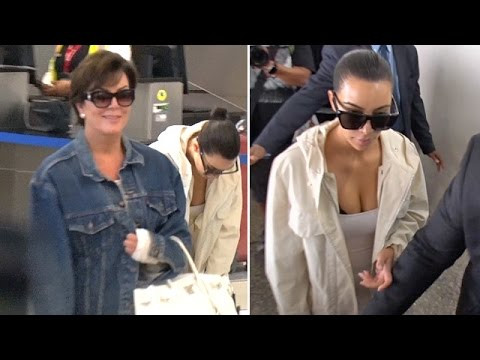 Kim Kardashian And Kris Jenner Asked About Scott Disick's Brawl Upon Return From Cannes