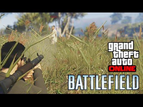 GTA V Online Battlefield #9: Alguém Corta Essa Grama, Não Vejo NADA!