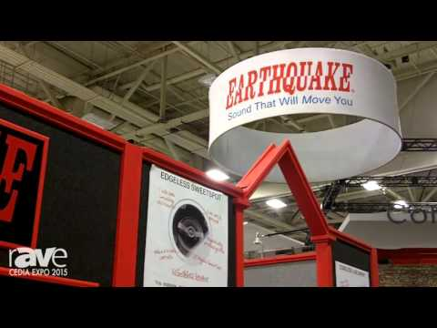 CEDIA 2015: Earthquake Audio Previews Subwoofers, DJ Monitors, Studio Monitors, Edgeless Speakers