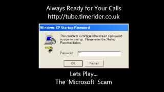 Lets Play... The Microsoft scam! 01183283315