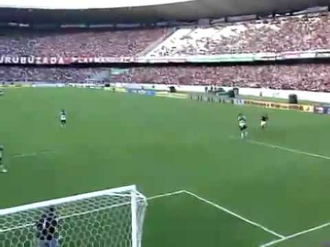 os 2 gols do Flamengo no Atlético Paranaense Maracanã gol de Adriano Imperador score goal amazing