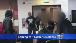 Maywood Faculty, Students Defend Teacher Recorded In Classroom Brawl