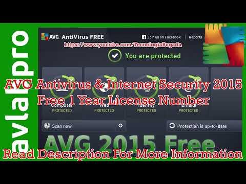 AVG Antivirus & Internet Security 2015 Free 1 Year Serial