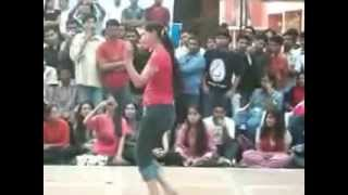 Indian College Girls Dancing In Tight Jeans Pant