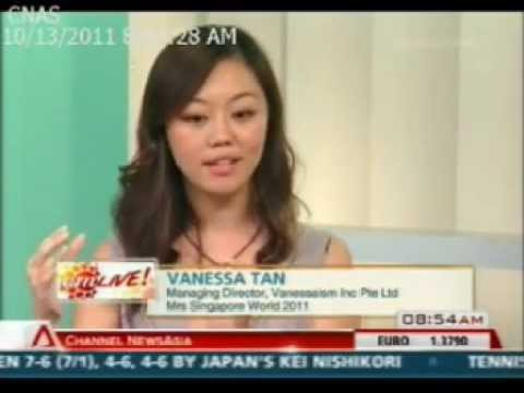 Mrs Singapore World 2011, Vanessa Tan on Channel News Asia Oct' 2011