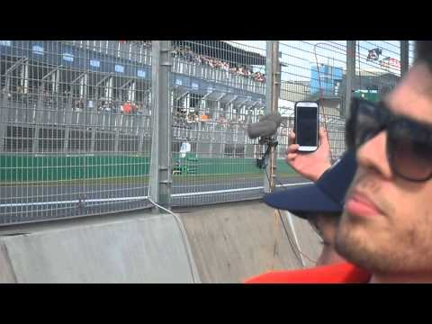 Daniel Ricciardo Pit Exit 2014 Australian Grand Prix