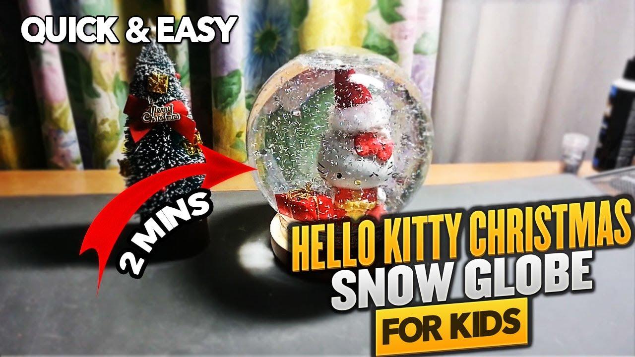 Как сделать шарик со снегом