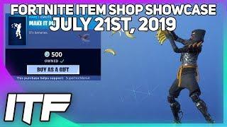 Fortnite Item Shop *NEW* MAKE IT PLANTAIN EMOTE! [July 21st, 2019] (Fortnite Battle Royale)