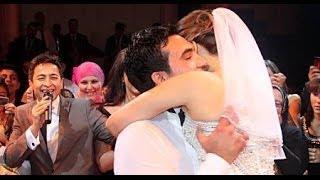 حفل زفاف الفنانة المصرية ايمان العاصى الذي حضر ه جمع كبير من الفنانين