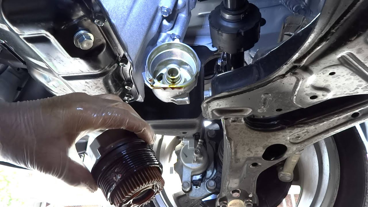 Watch on toyota matrix oil filter location