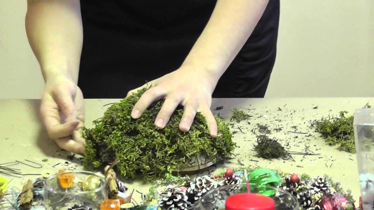 Как сделать мох своими руками мастер класс