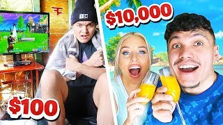 $10,000 VS $100 HOLIDAY - FaZe Vs FaZe