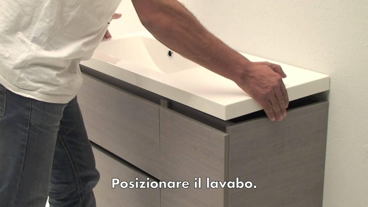 Istruzioni montaggio mobile bagno youtube for Fasciatoio parete ikea
