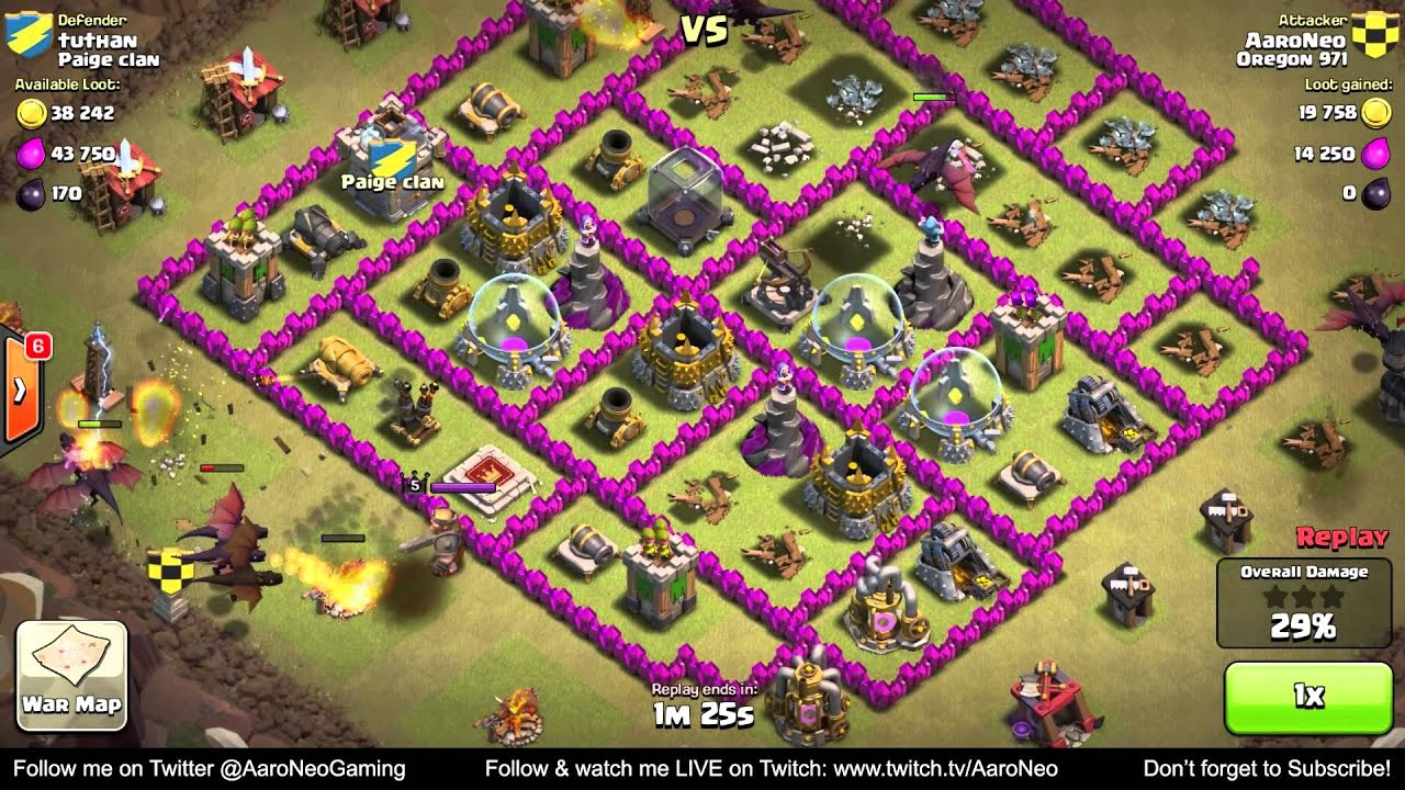 Best town hall level 7 th7 clan wars attack strategy part 6