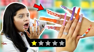 a 12 year old does my ACRYLIC Nails.. WORST REVIEW