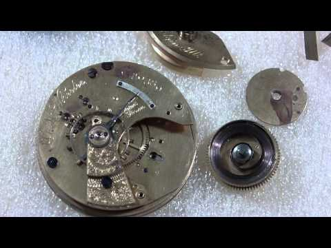 How I repair a broken mainspring barrel, Elgin National Watch Co.
