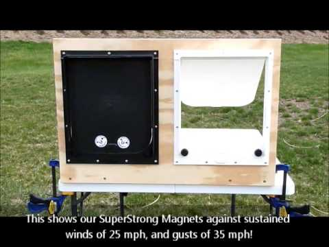 0 Magnador 2 Way Pet Door: Super Strong Magnet Demonstration